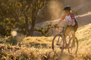 Alisal Ranch guest on a mountain bike trail