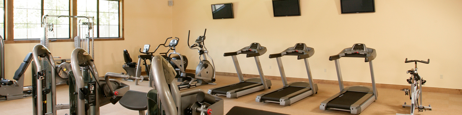Fitness center equipment at Alisal Guest Ranch & Resort