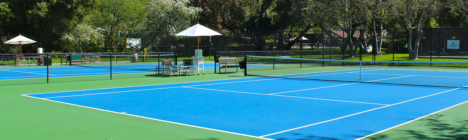 Tennis Courts at Alisal Guest Ranch & Resort in Solvang, CA