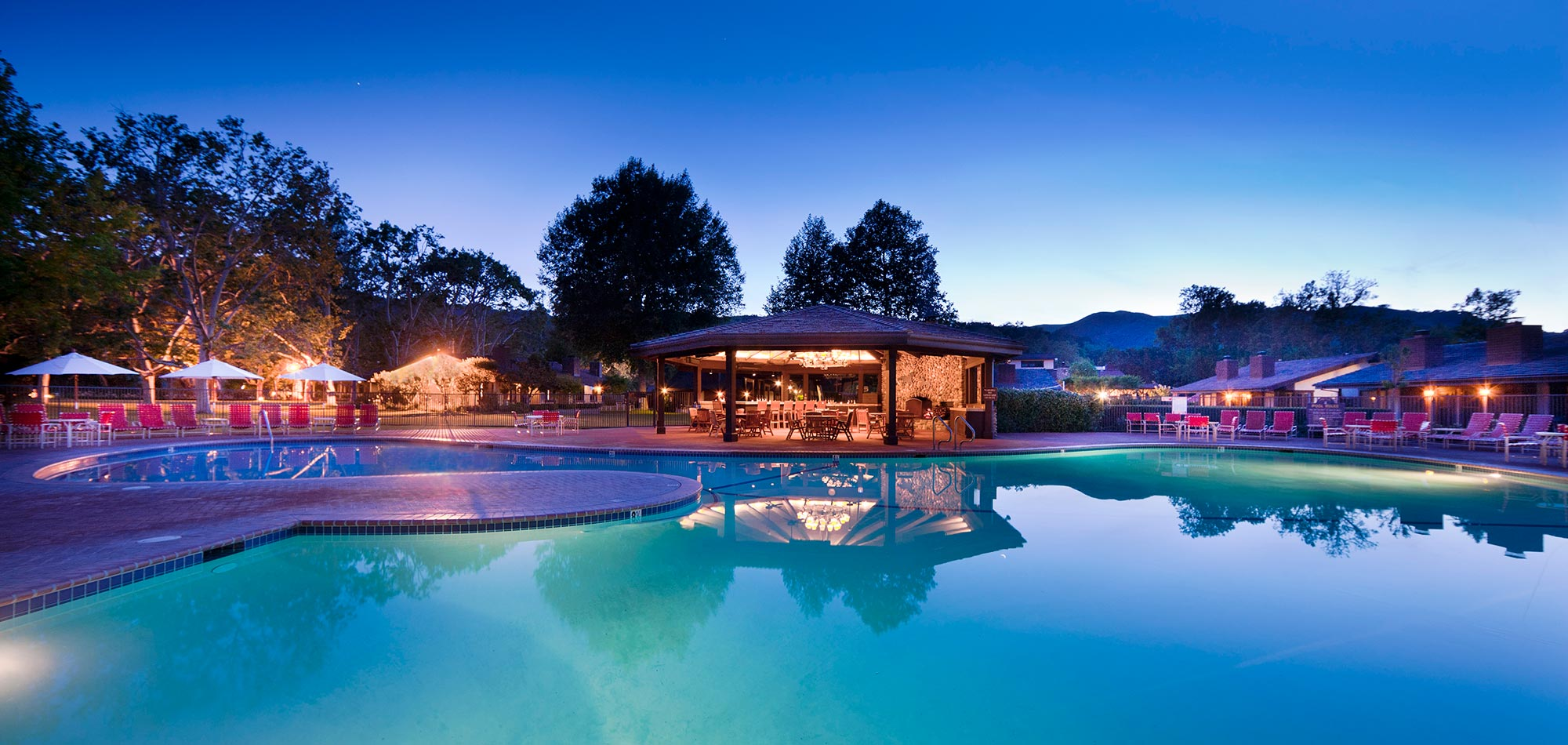 The pool at the Alisal Guest Ranch & Resort in Solvang, California