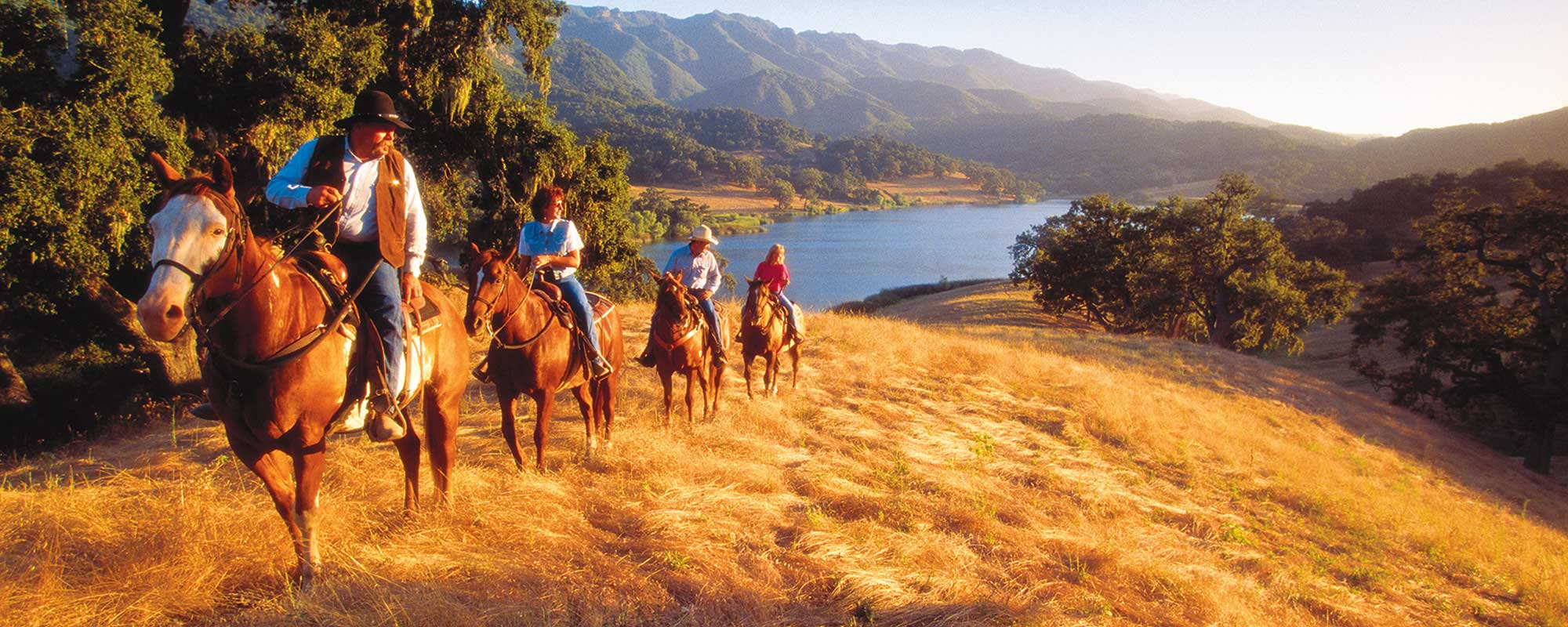 A sunset horseback ride at the Alisal Guest Ranch & Resort in Solvang, CA