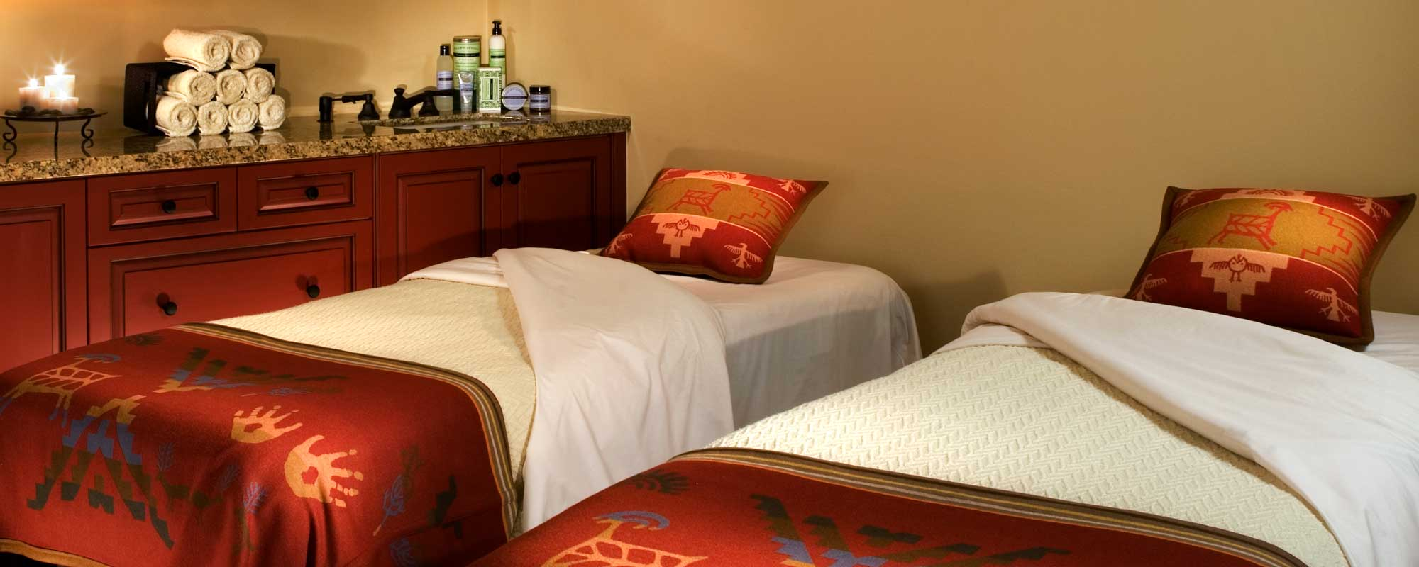A couples massage room at the Alisal Guest Ranch & Resort
