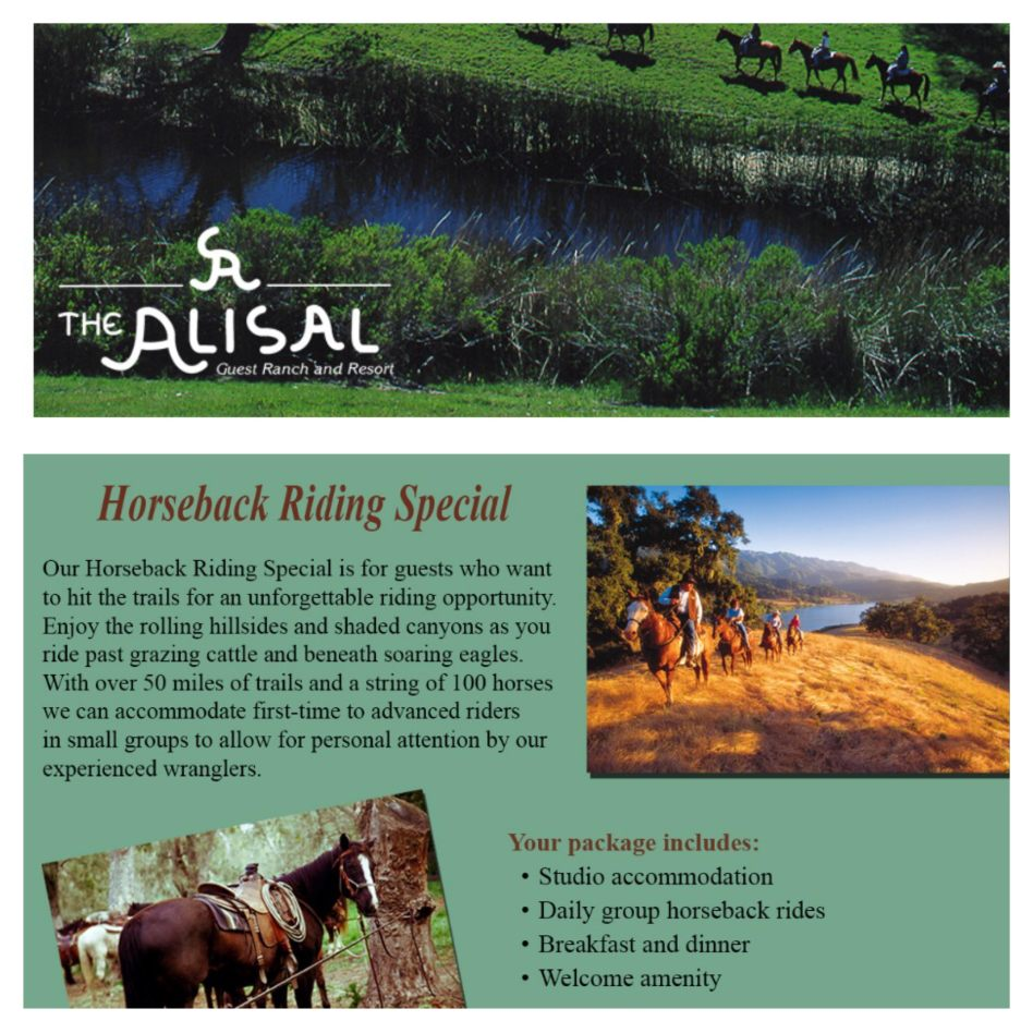 Alisal Guest Ranch and Resort - Spring Specials