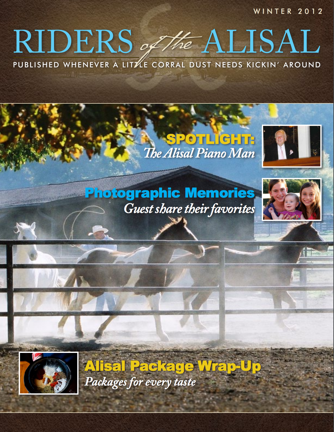 RIders of the Alisal 2012 winter issue - Alisal Guest Ranch and Resort