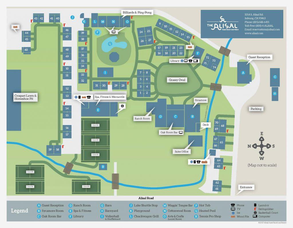 Alisal Guest Ranch & Resort Map