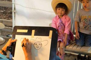childrens caricatures - Alisal Resort in Solvang California