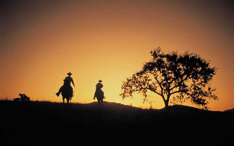 A sunset ride at the Alisal Guest Ranch & Resort
