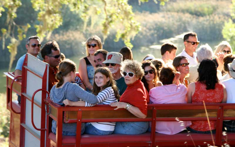 A family get together at the Alisal Guest Ranch & Resort