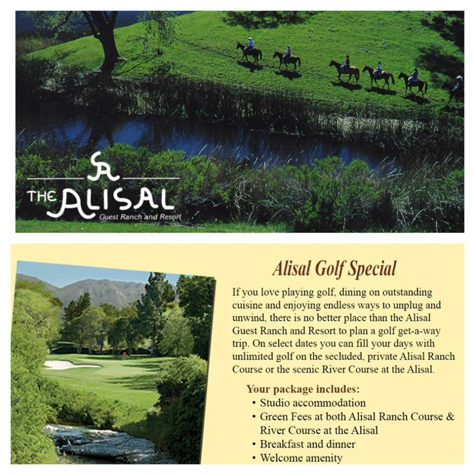 The Alisal Golf Special description and inclusions