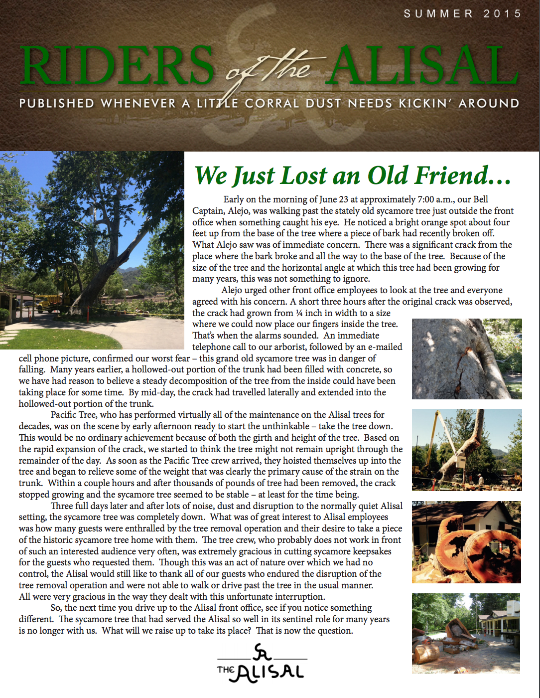 Riders of the Alisal 2015 Summer issue - Alisal Guest Ranch and Resort