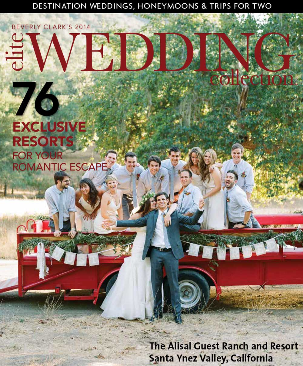 Alisal featured on the cover of Elite Weddings magazine