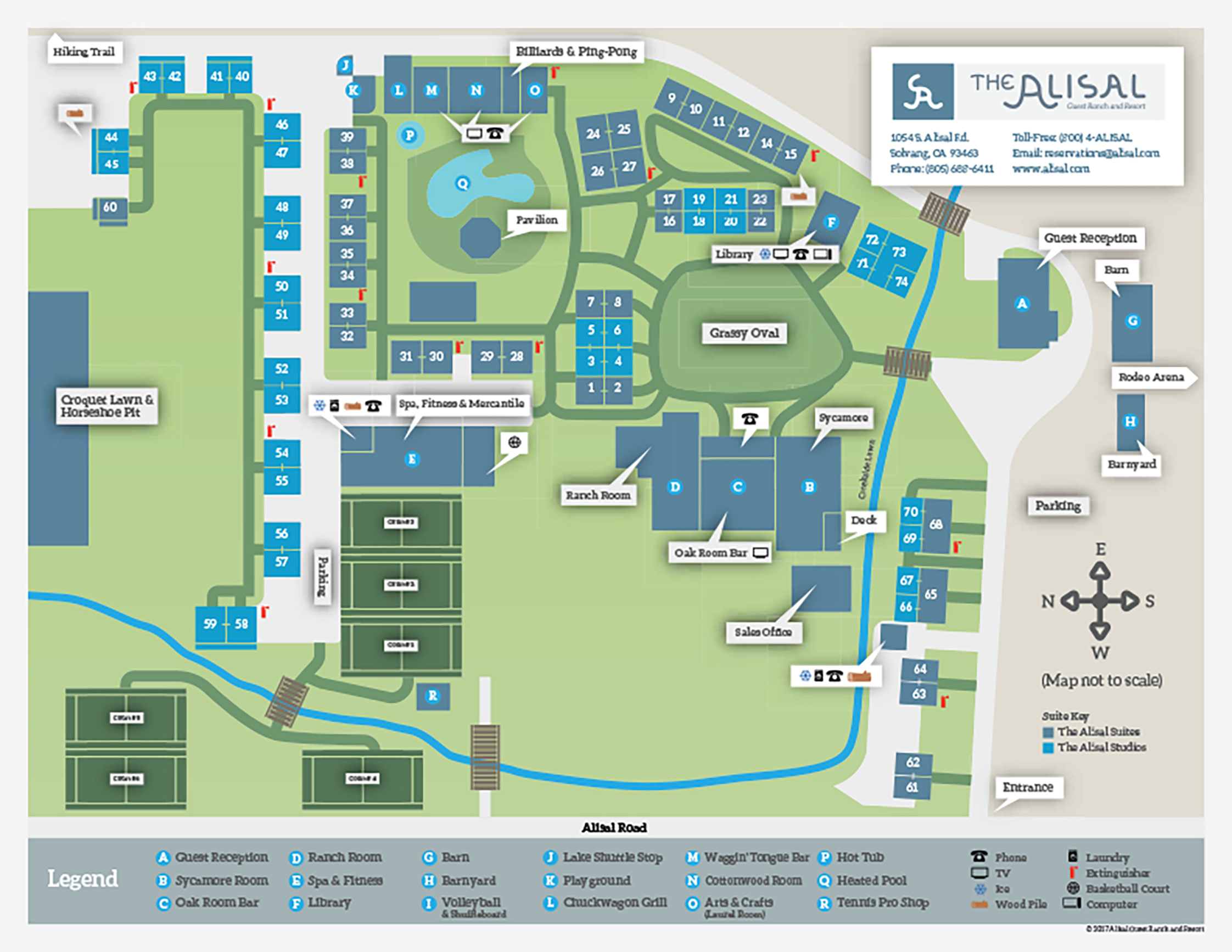 Alisal Guest Ranch and Resort map