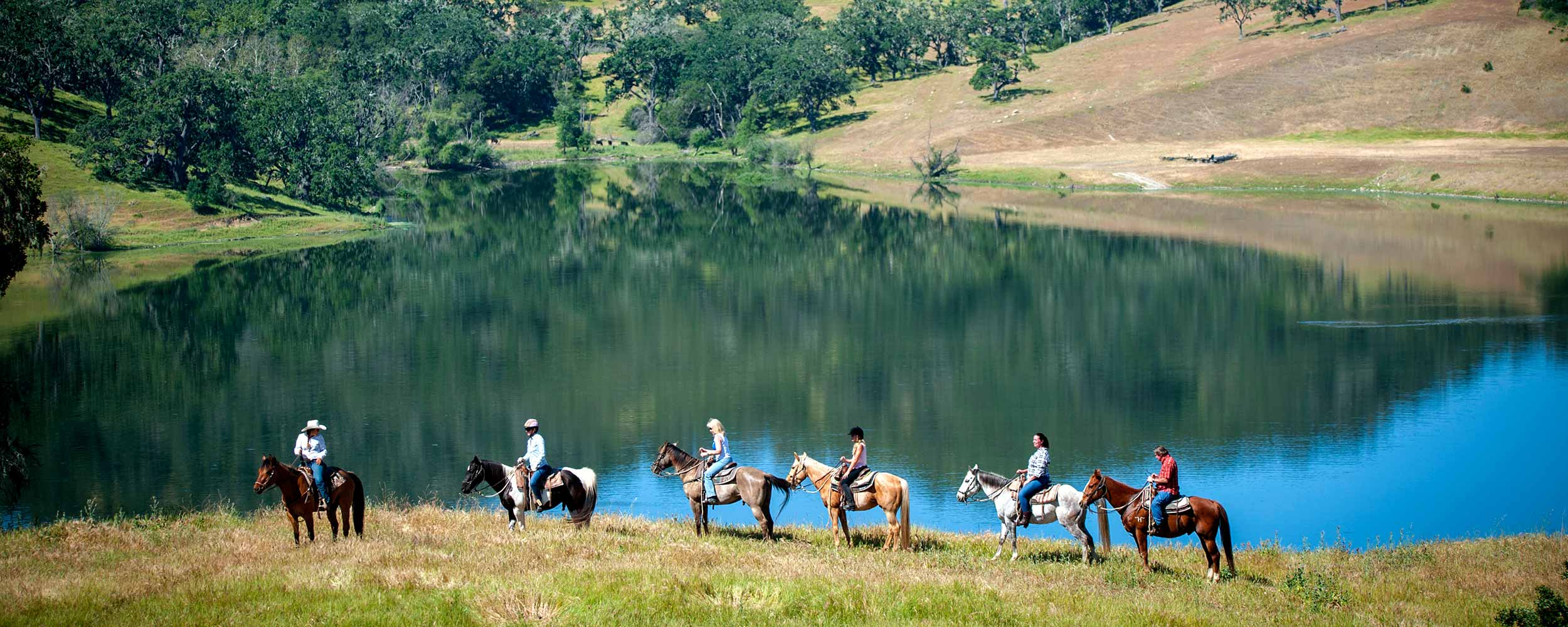 horseback riding around Alisal Lake - Alisal Resort in Solvang California