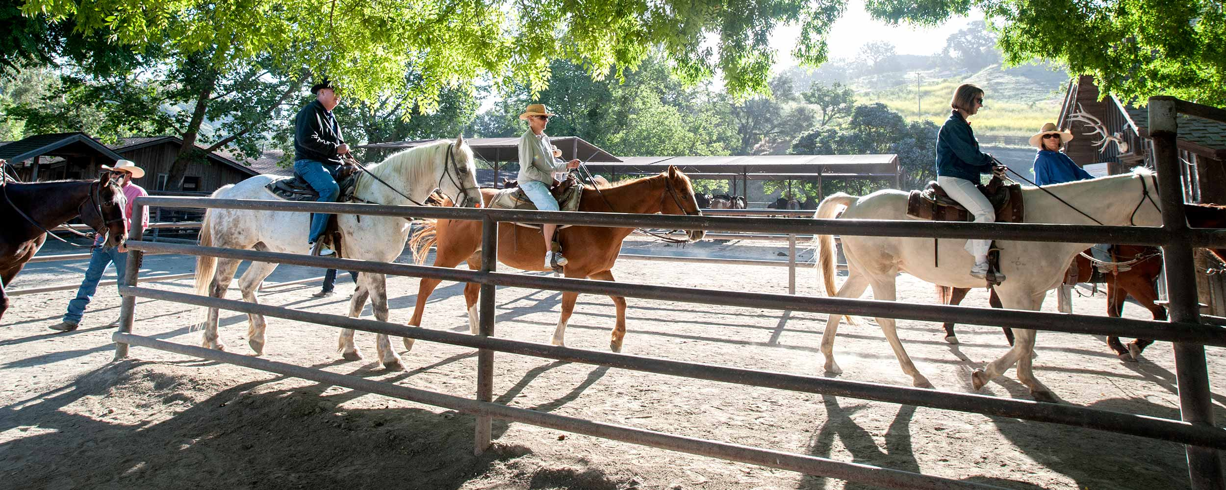horseback riding at Alisal Ranch - Alisal Resort in Solvang California