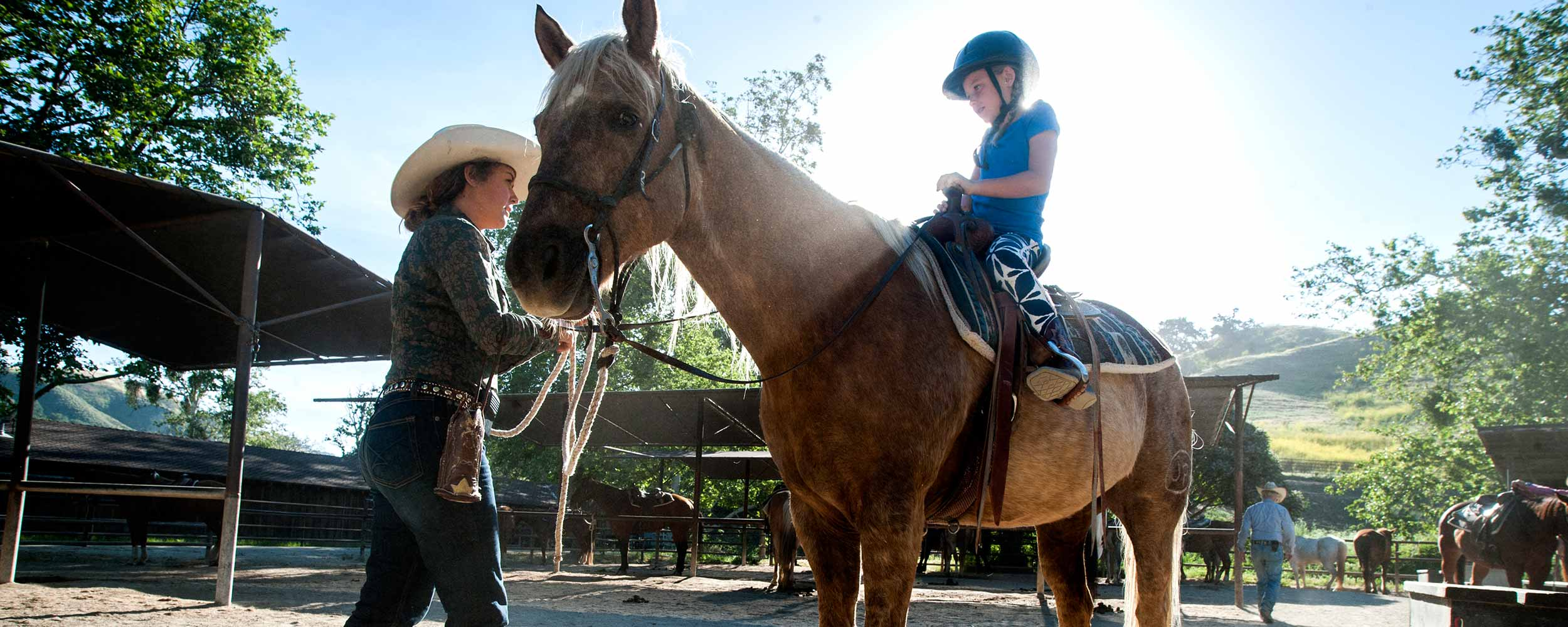 kids horseback riding lesson - Alisal Resort in Solvang California