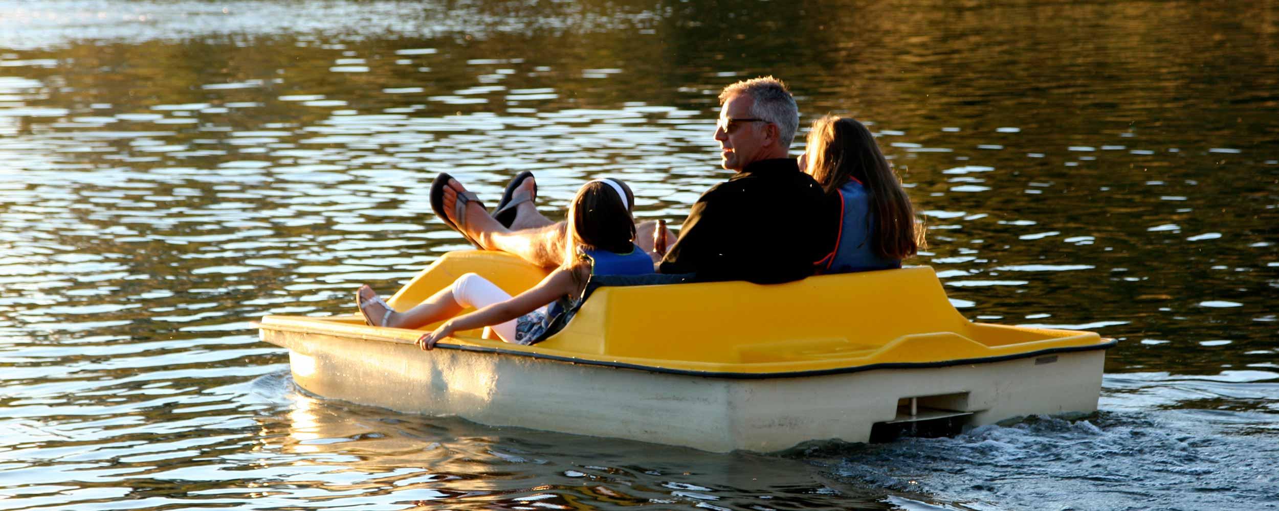 Paddleboating on Alisal Lake - Alisal Resort in Solvang California