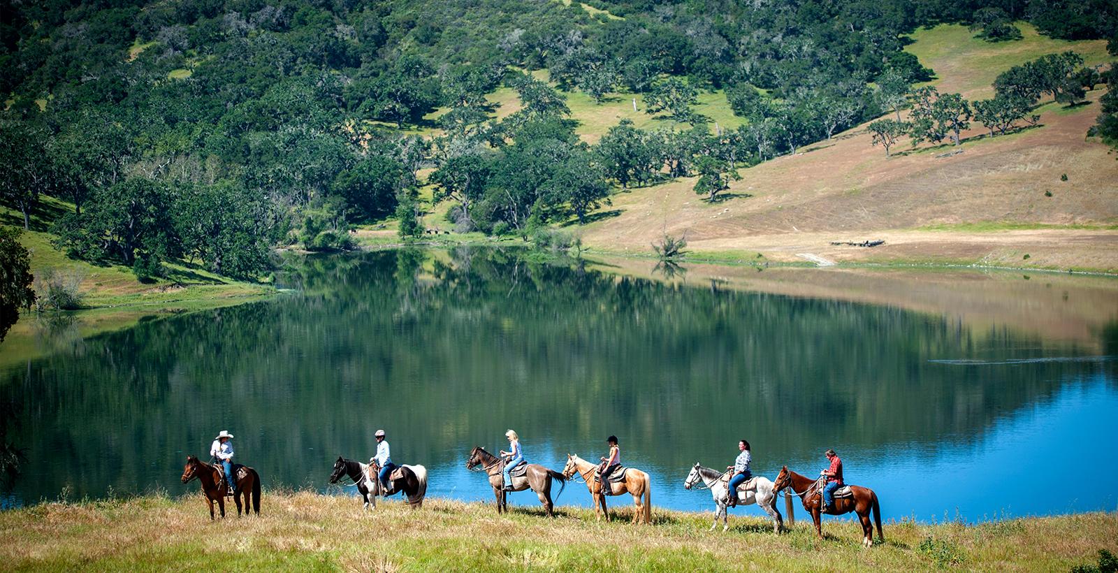 Horseback riding at The Alisal