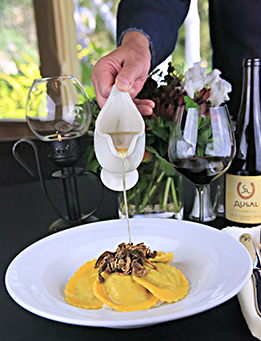 Wine pairing at The Alisal