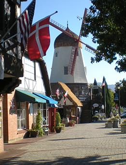 Main street along Solvang, CA