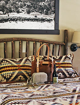 A guestroom at The Alisal