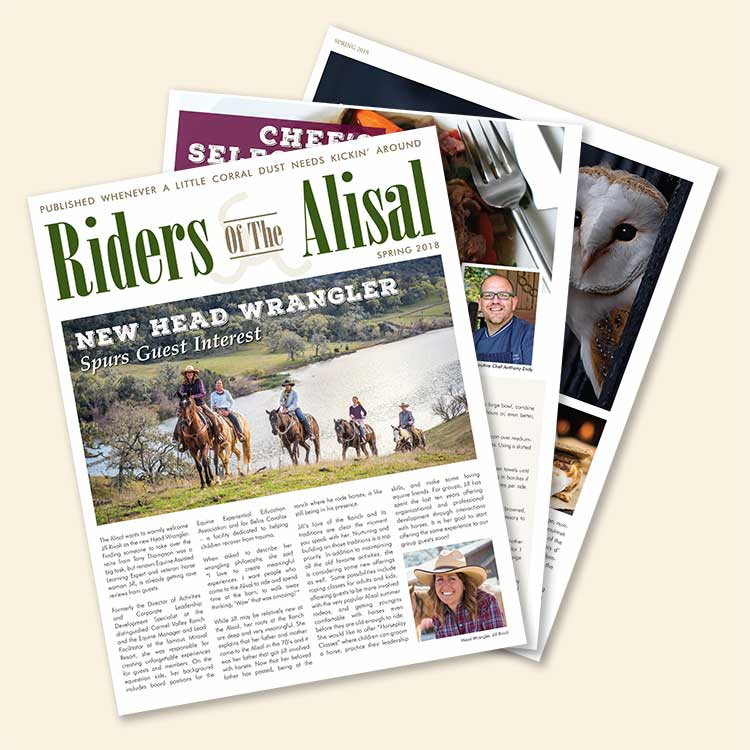 Riders of the Alisal magazine - Spring 2018