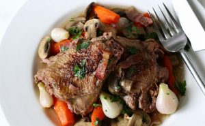 Coq au Vin from The Alisal Ranch Chef Anthony Endy