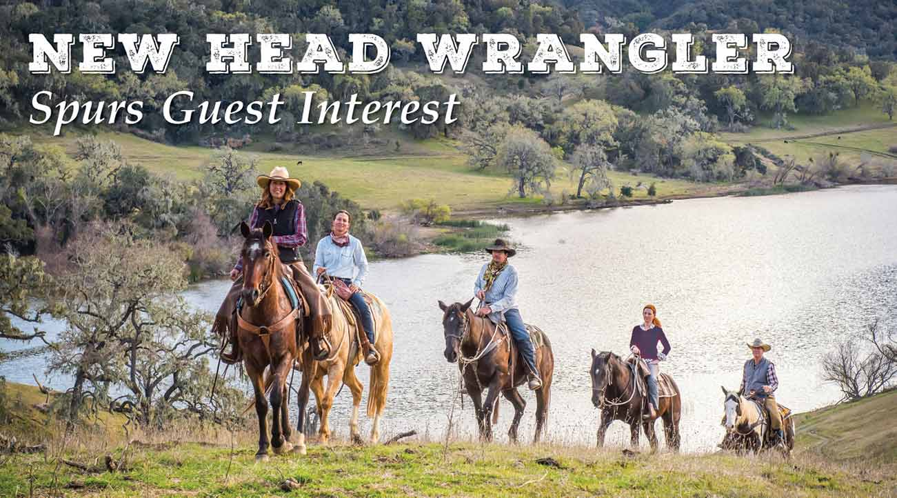 A horseback riding group around the lake at Alisal Guest Ranch & Resort - a California Dude Ranch