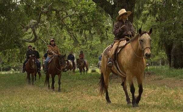 Specialty morning horseback ride at the Alisal