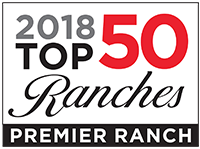 "Recipient of ""PREMIER RANCH"" by Top 50 Ranches for 2018"