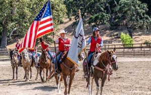 Drill Team Class on Horseback at the Alisal Guest Ranch & Resort