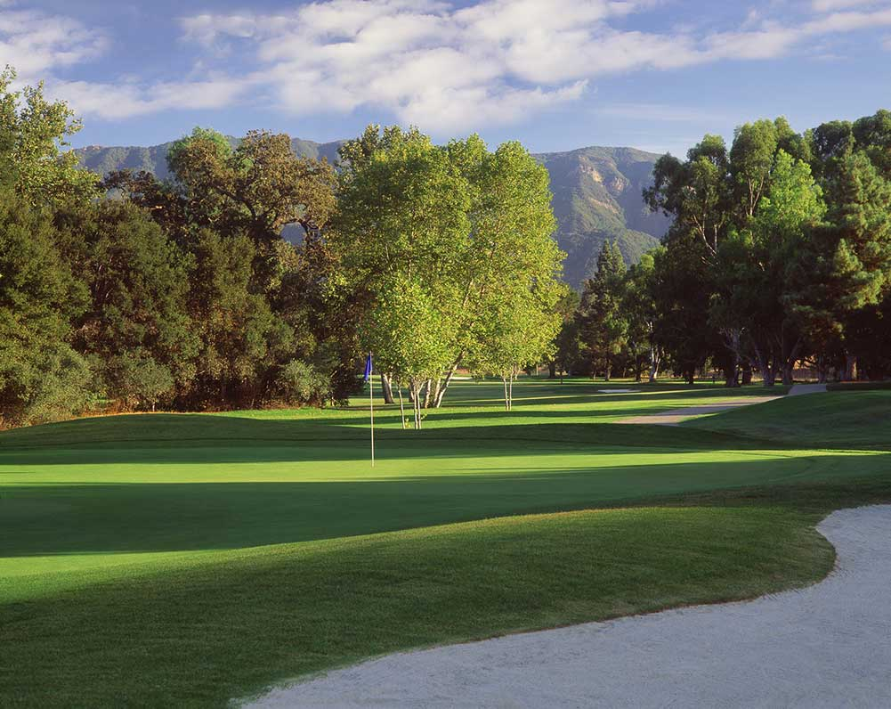Golf Course with mountain views at Alisal