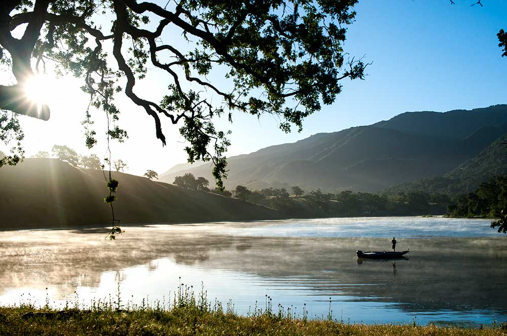 Fishing on Alisal's private lake