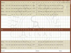 Alisal River Golf Course Scorecard