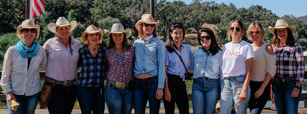 A group of women wranglers at the Alisal Guest Ranch in Solvang, CA