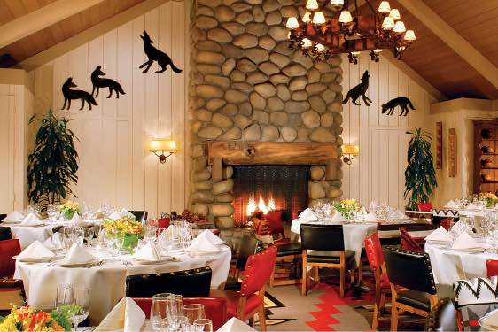 The Sycamore dining room at the Alisal Guest Ranch & Resort