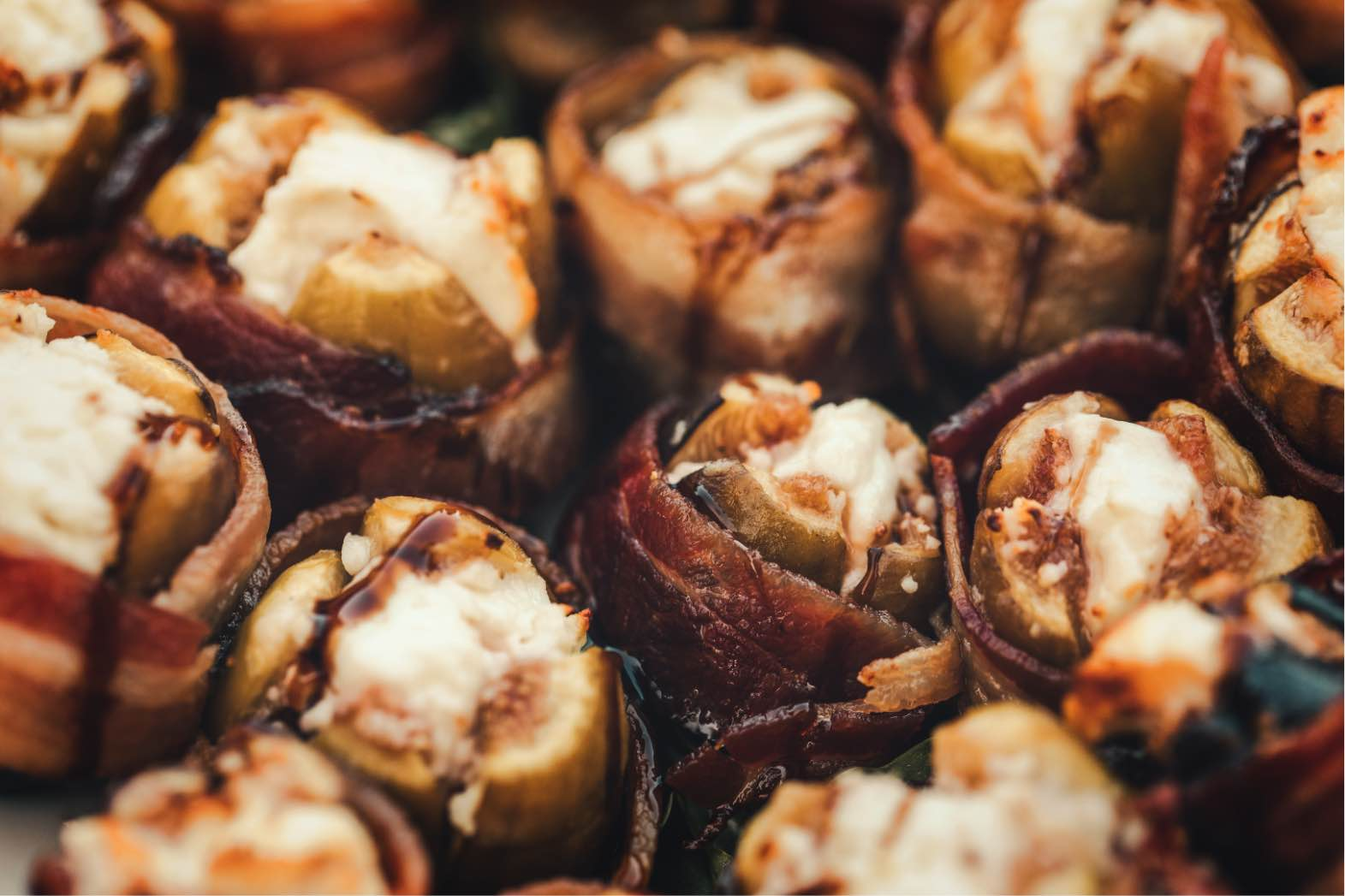 Grilled bacon-wrapped stuffed figs at the Alisal Guest Ranch & Resort