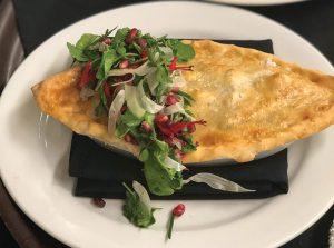 Chicken Pot Pie with a spring salad