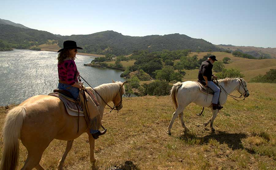Scenic Picnic Horseback Riding at the Alisal Guest Ranch in Solvang, CA