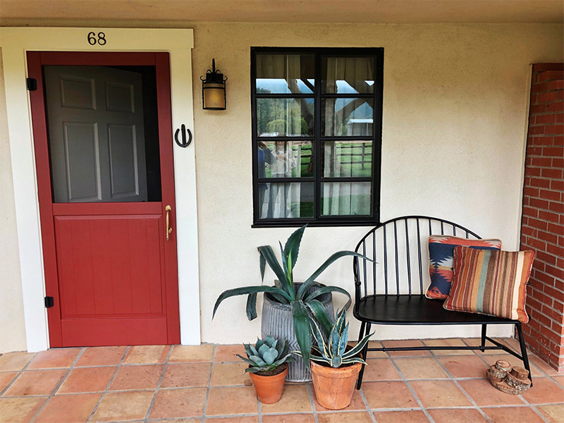 The quintessential front porch design by Nathan Turner at the Alisal Guest Ranch