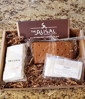 The S'mores Kit by chocolatier Valerie Gordon at the Alisal Guest Ranch