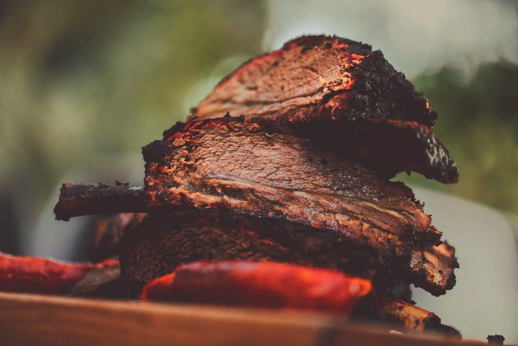 A stack of perfectly grilled Alisal beef ribs