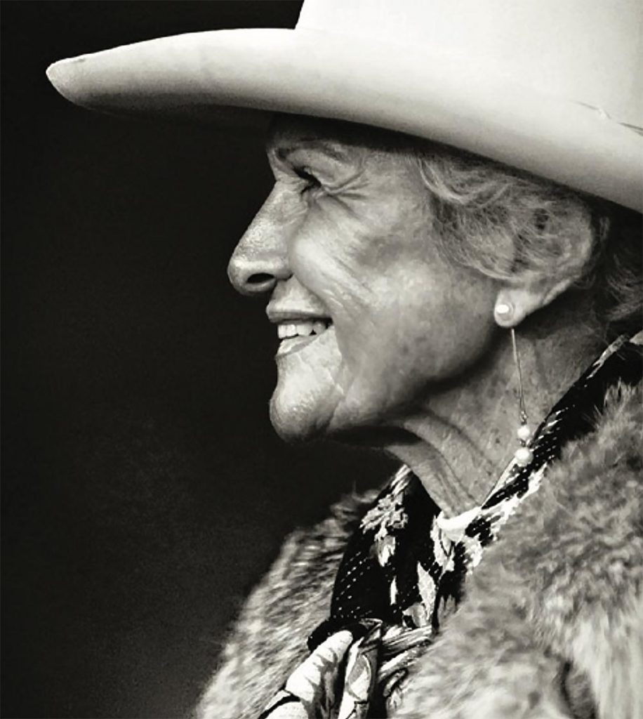 Side profile photo of cowgirl Audrey Griffin