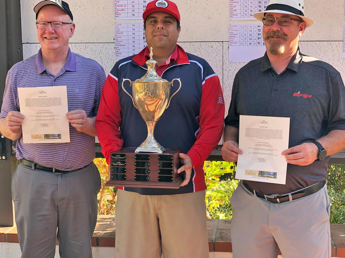 2019 Santa Ynez Valley Golf Championship winners including Lance Grindle, Brandon Gama, and Jim Vreeland