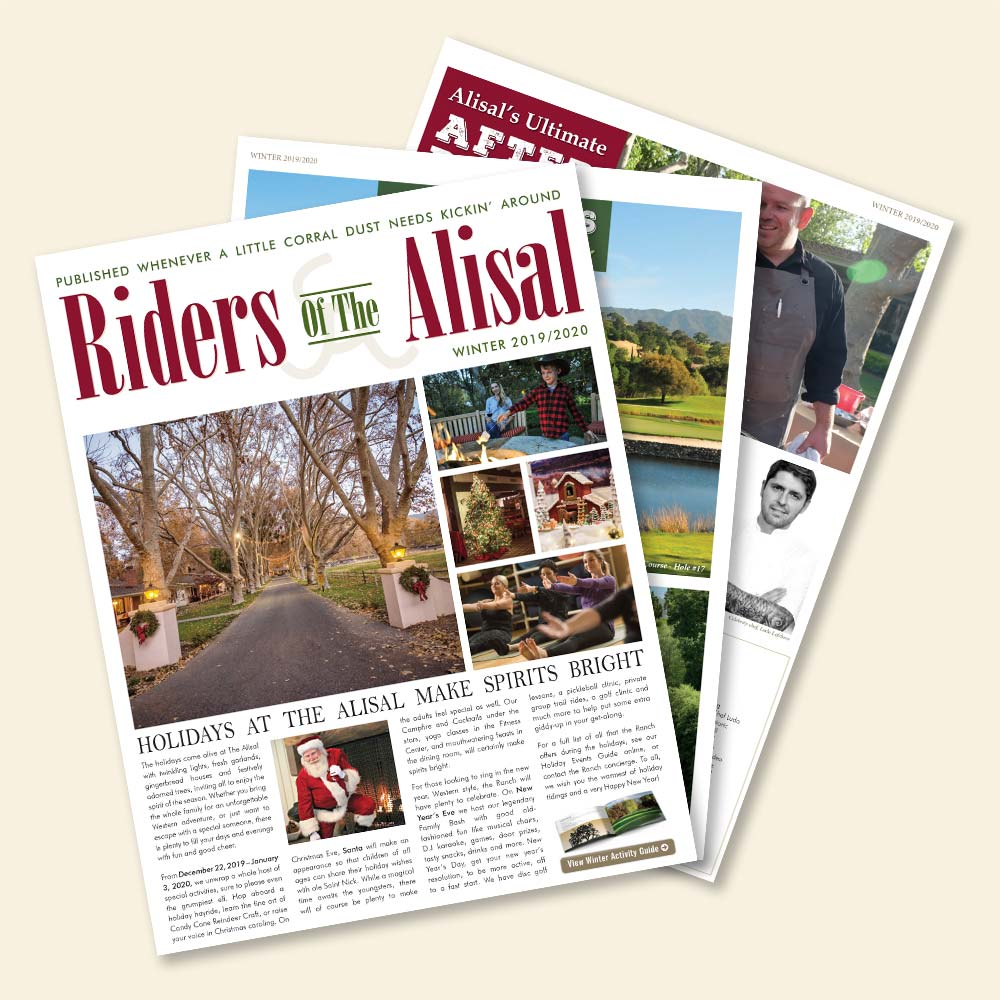 The 2019 Riders of the Alisal newsletter